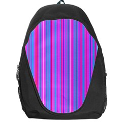Blue And Pink Stripes Backpack Bag