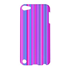 Blue And Pink Stripes Apple Ipod Touch 5 Hardshell Case