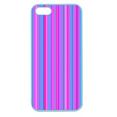 Blue And Pink Stripes Apple Seamless iPhone 5 Case (Color)