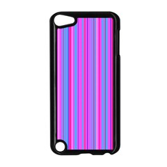 Blue And Pink Stripes Apple Ipod Touch 5 Case (black)