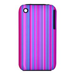 Blue And Pink Stripes Iphone 3s/3gs