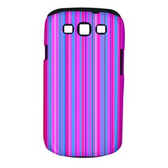 Blue And Pink Stripes Samsung Galaxy S Iii Classic Hardshell Case (pc+silicone)