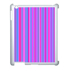 Blue And Pink Stripes Apple iPad 3/4 Case (White)