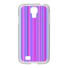 Blue And Pink Stripes Samsung Galaxy S4 I9500/ I9505 Case (white)