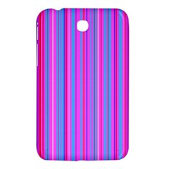 Blue And Pink Stripes Samsung Galaxy Tab 3 (7 ) P3200 Hardshell Case