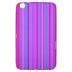 Blue And Pink Stripes Samsung Galaxy Tab 3 (8 ) T3100 Hardshell Case