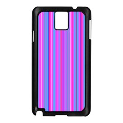Blue And Pink Stripes Samsung Galaxy Note 3 N9005 Case (Black)