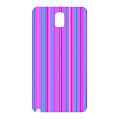 Blue And Pink Stripes Samsung Galaxy Note 3 N9005 Hardshell Back Case