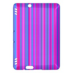 Blue And Pink Stripes Kindle Fire Hdx Hardshell Case