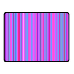 Blue And Pink Stripes Double Sided Fleece Blanket (Small)