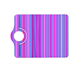 Blue And Pink Stripes Kindle Fire HD (2013) Flip 360 Case