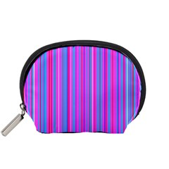 Blue And Pink Stripes Accessory Pouches (small)