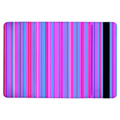 Blue And Pink Stripes iPad Air Flip