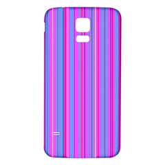 Blue And Pink Stripes Samsung Galaxy S5 Back Case (White)