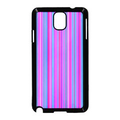 Blue And Pink Stripes Samsung Galaxy Note 3 Neo Hardshell Case (black)