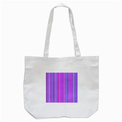 Blue And Pink Stripes Tote Bag (white)