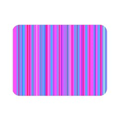 Blue And Pink Stripes Double Sided Flano Blanket (mini)
