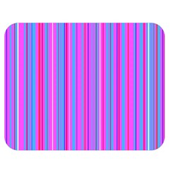 Blue And Pink Stripes Double Sided Flano Blanket (Medium)