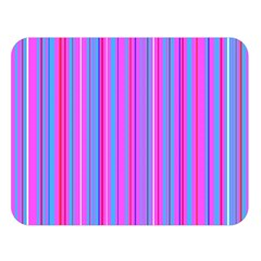 Blue And Pink Stripes Double Sided Flano Blanket (Large)
