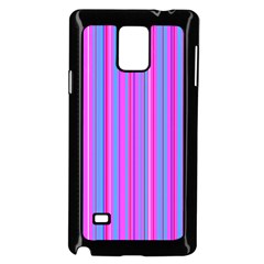 Blue And Pink Stripes Samsung Galaxy Note 4 Case (Black)