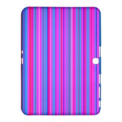 Blue And Pink Stripes Samsung Galaxy Tab 4 (10.1 ) Hardshell Case
