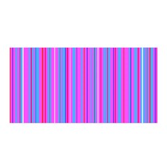 Blue And Pink Stripes Satin Wrap