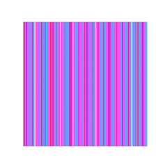 Blue And Pink Stripes Small Satin Scarf (Square)