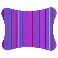 Blue And Pink Stripes Jigsaw Puzzle Photo Stand (Bow)