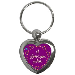 Happy Mothers Day Celebration I Love You Mom Key Chains (Heart)