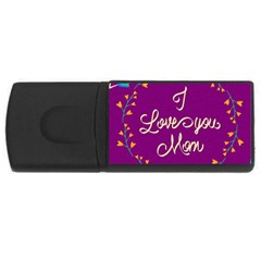 Happy Mothers Day Celebration I Love You Mom USB Flash Drive Rectangular (1 GB)