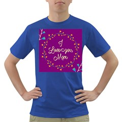 Happy Mothers Day Celebration I Love You Mom Dark T Shirt