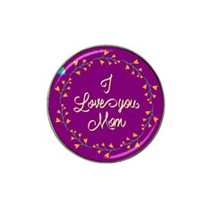 Happy Mothers Day Celebration I Love You Mom Hat Clip Ball Marker (4 pack)