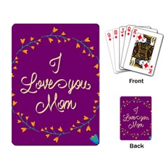Happy Mothers Day Celebration I Love You Mom Playing Card