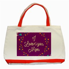 Happy Mothers Day Celebration I Love You Mom Classic Tote Bag (red)