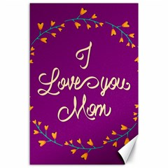 Happy Mothers Day Celebration I Love You Mom Canvas 24  X 36