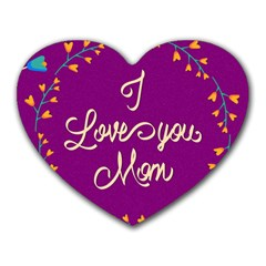 Happy Mothers Day Celebration I Love You Mom Heart Mousepads
