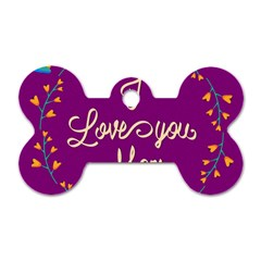 Happy Mothers Day Celebration I Love You Mom Dog Tag Bone (one Side)