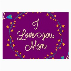 Happy Mothers Day Celebration I Love You Mom Large Glasses Cloth (2-Side)