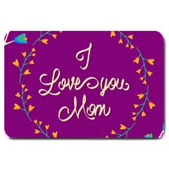 Happy Mothers Day Celebration I Love You Mom Large Doormat
