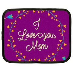 Happy Mothers Day Celebration I Love You Mom Netbook Case (Large)