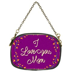 Happy Mothers Day Celebration I Love You Mom Chain Purses (one Side)