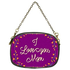 Happy Mothers Day Celebration I Love You Mom Chain Purses (two Sides)