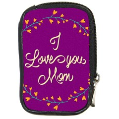 Happy Mothers Day Celebration I Love You Mom Compact Camera Cases