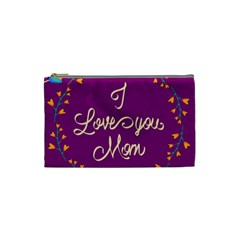 Happy Mothers Day Celebration I Love You Mom Cosmetic Bag (Small)