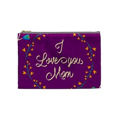Happy Mothers Day Celebration I Love You Mom Cosmetic Bag (Medium)