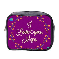 Happy Mothers Day Celebration I Love You Mom Mini Toiletries Bag 2 Side