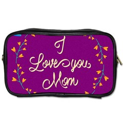 Happy Mothers Day Celebration I Love You Mom Toiletries Bags