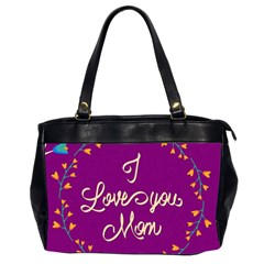 Happy Mothers Day Celebration I Love You Mom Office Handbags (2 Sides)