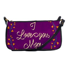Happy Mothers Day Celebration I Love You Mom Shoulder Clutch Bags