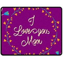 Happy Mothers Day Celebration I Love You Mom Fleece Blanket (medium)